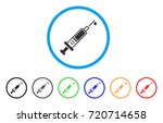 injection rounded icon. style...   Shutterstock .eps vector #720714658