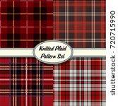 vector knitted plaid tartan red ... | Shutterstock .eps vector #720715990
