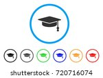 graduation cap rounded icon.... | Shutterstock .eps vector #720716074