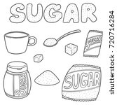 vector set of sugar | Shutterstock .eps vector #720716284