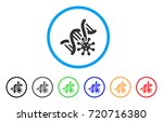 genetics rounded icon. style is ... | Shutterstock .eps vector #720716380