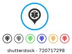 emergency map marker rounded... | Shutterstock .eps vector #720717298