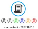 conclusion roll document... | Shutterstock .eps vector #720718213