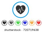 cardiology heart pulse rounded... | Shutterstock .eps vector #720719638