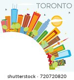 toronto skyline with color... | Shutterstock . vector #720720820