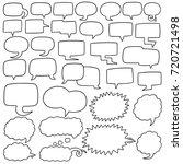 vector set of speech bubbles | Shutterstock .eps vector #720721498