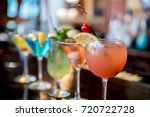 cocktails drinks on the bar | Shutterstock . vector #720722728