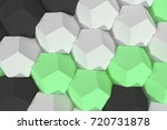 pattern of white  green and... | Shutterstock . vector #720731878