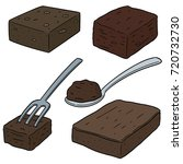 vector set of brownie | Shutterstock .eps vector #720732730