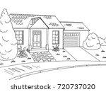 street road graphic black white ... | Shutterstock .eps vector #720737020