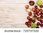 Chestnut On White Wooden...
