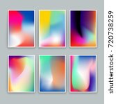 vivid gradient backgrounds. set ... | Shutterstock .eps vector #720738259