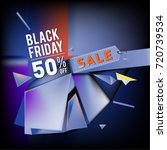 black friday sale poster. 3d...