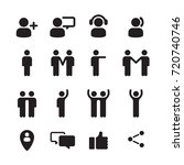 black icons of people  graphic...   Shutterstock .eps vector #720740746