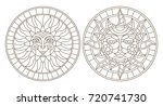 set contour illustrations of... | Shutterstock .eps vector #720741730