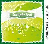 background with garden flowers | Shutterstock .eps vector #72074236