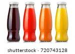juice glass bottle isolated...   Shutterstock . vector #720743128