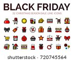 black friday sale icons set ... | Shutterstock .eps vector #720745564