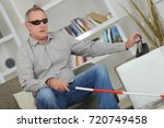 blind man | Shutterstock . vector #720749458