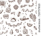 mexican holidays pattern with... | Shutterstock .eps vector #720757810