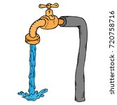 Water Tap On A Pipe With...