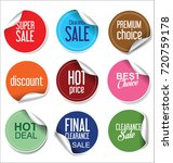 sale stickers and tags... | Shutterstock .eps vector #720759178