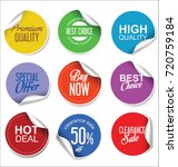 sale stickers and tags... | Shutterstock .eps vector #720759184