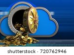 3d illustration of cloud with... | Shutterstock . vector #720762946