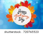 happy thanksgiving day... | Shutterstock .eps vector #720765523