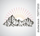 abstract the mountains. hand... | Shutterstock .eps vector #720771010