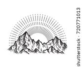 abstract the mountains. hand... | Shutterstock .eps vector #720771013