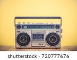 Retro Outdated Portable Stereo...