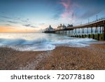 dawn at eastbourne pier in ... | Shutterstock . vector #720778180