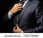 smart businessman in suit on... | Shutterstock . vector #720778489