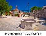zadar five wells square and... | Shutterstock . vector #720782464