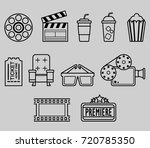 cinema watching outline icon | Shutterstock .eps vector #720785350