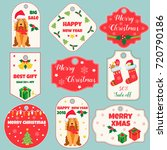 set of holiday tags and badges... | Shutterstock .eps vector #720790186