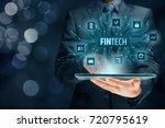 fintech  financial technology ... | Shutterstock . vector #720795619