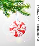 christmas tree branch with... | Shutterstock .eps vector #720798976