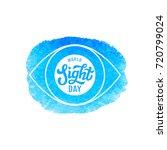 world sight day. international... | Shutterstock .eps vector #720799024