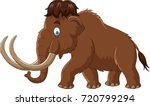 cartoon mammoth isolated on... | Shutterstock . vector #720799294
