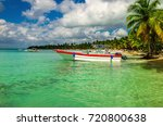 amazing caribbean coast... | Shutterstock . vector #720800638