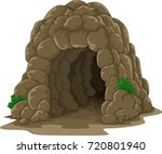 cartoon cave isolated on white... | Shutterstock . vector #720801940