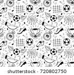soccer vector background.... | Shutterstock .eps vector #720802750