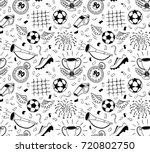 soccer vector background.... | Shutterstock .eps vector #720802750