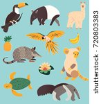 set of animals of south america | Shutterstock .eps vector #720803383