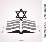 online torah or tanakh vector... | Shutterstock .eps vector #720810208