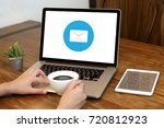 mail communication connection... | Shutterstock . vector #720812923