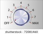 realistic control knob with... | Shutterstock .eps vector #72081460