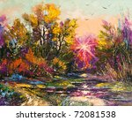 oil painting   autumn decline | Shutterstock . vector #72081538